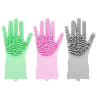 Magic Silicone Rubber Dish Washing Gloves Cleaning Sponge Eco-Friendly Scrubbing