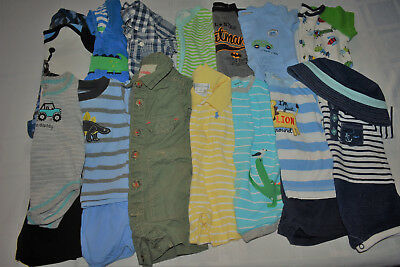 Used 20 Pc. Lot Of Newborn Baby Boy Clothes 0-3 Months Euc/Vguc