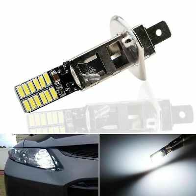 Super Bright White Driving DRL Lamp Car Fog Light LED Bulb H1 6500K 24-SMD 4014