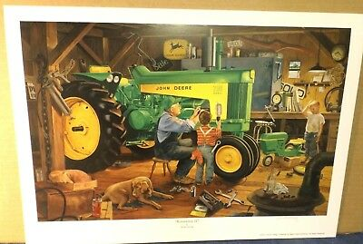 JOHN DEERE ART by CHARLES FREITAG - RESTORATION II - MODEL 730 D - PRINT ONLY