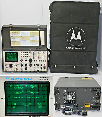 Motorola R-2001D/HS Communications System Analyzer Service Monitor w/ Case