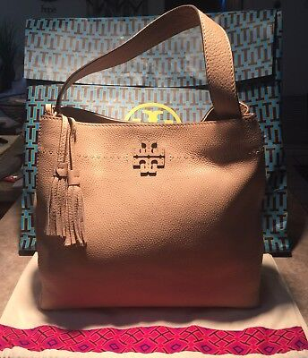 9f17304a3cb NWT!!!  478 - Tory Burch McGraw Hobo in Devon Sand Pebbled Leather ...