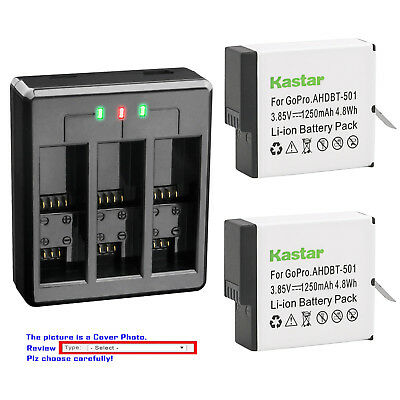 Kastar Battery USB Triple Charger for GoPro AHDBT-501 Hero 5 & GoPro HERO5 Black