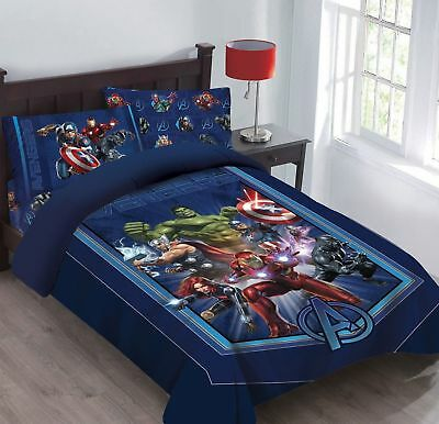 Twin Full Avengers Marvel Bed In A Bag Comforter Ed Sheets Pillowcase S