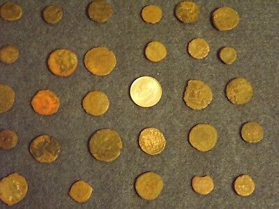 LOT OF 25 ANCIENT BRONZE ROMAN COINS Unclean Mid-Low Grade WWII North Africa 26