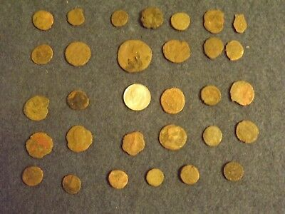LOT OF 25 ANCIENT BRONZE ROMAN COINS Unclean Mid-Low Grade WWII North Africa 27
