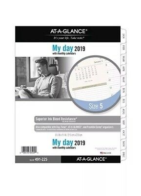 at-A-Glance 491-225-18 Day Runner Daily Planner Refill, Two Page per Day, Loose