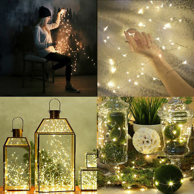 50/100 LED 5M/10M USB Copper Wire Fairy String Lights Wedding Party Decor