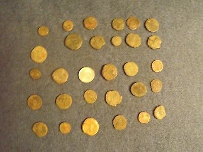 LOT OF 25 ANCIENT BRONZE ROMAN COINS Unclean Mid-Low Grade WWII North Africa 30