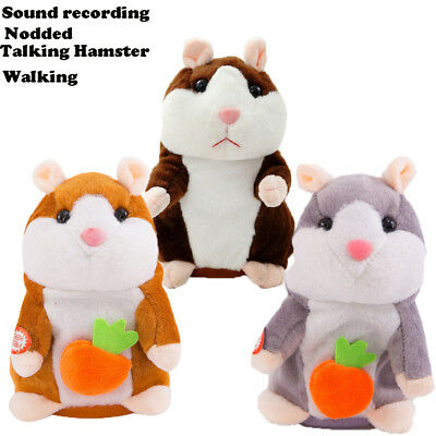 Cute Cheeky Hamster Talking Mouse Pet Christmas Toys Speak Sound Record Gifts