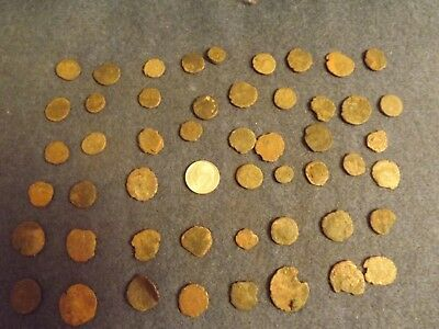 LOT OF 50 ANCIENT BRONZE ROMAN COINS Unclean Mid-Low Grade WWII North Africa 34