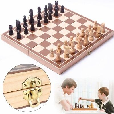Folding Chessboard Chess Board Box Set Portable Kids Game Toy Puzzle For Gifts
