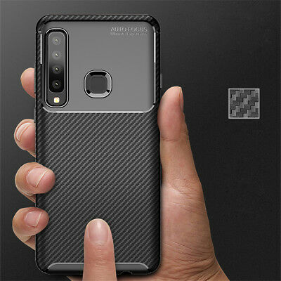 Luxury Fiber Carbon Soft Silicone Case Cover For Samsung Galaxy A9 A8 A7 A6 2018
