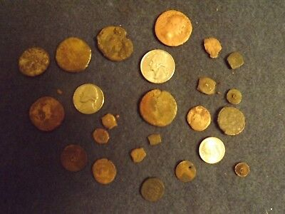 Lot LARGE Ancient Bronze Roman Coins Judean Lepton Button Unclean Mid-Low Grade