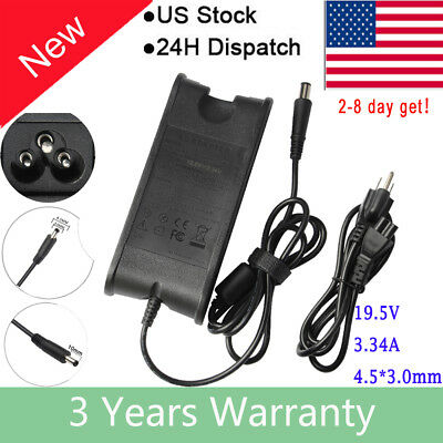 19.5V 3.34A 65W AC Power Supply Charger Adapter 4.5*3.0mm For Dell Laptop + Cord