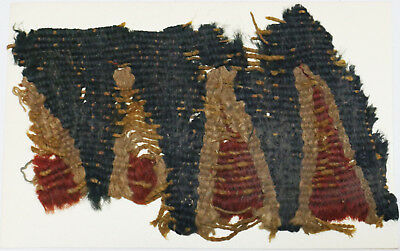 13-15C Antique Textile Fragment -  Dyeing and Weaving, Kilims