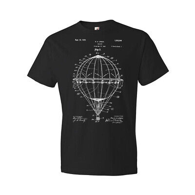 Hot Air Balloon Shirt Balloonist Gift Pilot Aviation Balloon Patent Patent Art