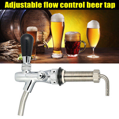 Beer Tap Faucet Adjustable G5/8 Long Shank Chrome Plating Anti-rust