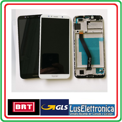 Display Lcd Assemblato Touch Screen Vetro Con  Frame  Huawei Y6 (2018) Atu-L11 N