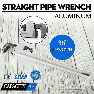 "36"" Large Aluminum Pipe Wrench 36 inch Long Handle Plumbers Tool"