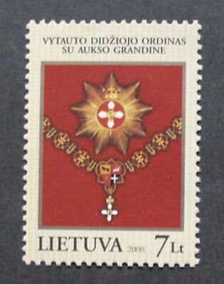 Medals, honours, insignia & military stamp, 2008, Lithuania, mint, never hinged