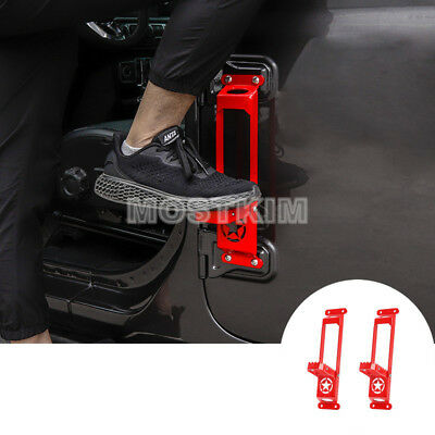 Red Car Door Hinge Side Foot Pedal Step 2pcs For Jeep Wrangler JL 2018-2019