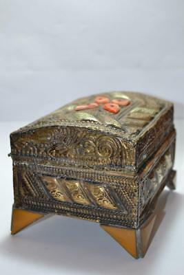 beautiful islamic copper brass box hand made arabic home decor great piece