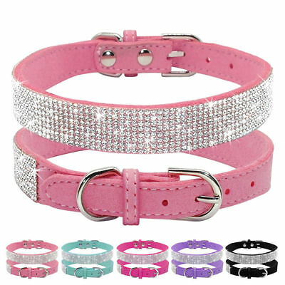 Crystal Dog Collars Fancy Small Bling Dog Collar Dog Cat Necklace with XS S M FR