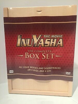 Inuyasha the movie complete box set w/ all 4 CD soundtracks / NEW anime on DVD
