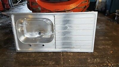 Pland Sit On Top Commercial Stainless Steel Single Bowl Sink Left Hand Drainer