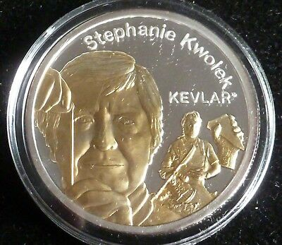 Dupont 1oz Silver Proof Stephanie Kwolek Coin 200th Anniversary Limited Edition