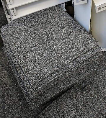 Used Grey Carpet Floor Tiles - Good Condition & Hard Wearing! ONLY £1 PER TILE!
