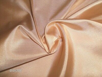 """DUSTY PEACH"" SILK TISSUE TAFFETA~9""x22""~ GREAT FOR NEW 8"" FF  DOLLS!"