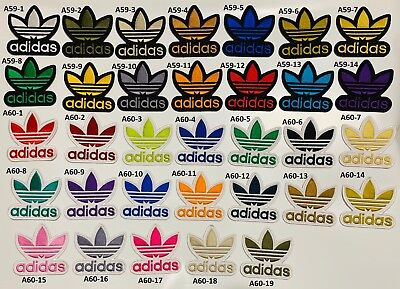 Adidas Trefoil Embroidered Sports Iron on Sew On Patch Badge Clothe Jeans Shirt