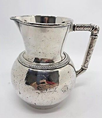 ELKINGTON Jug Silver Plated CHRISTOPHER DRESSER Aesthetic Movement 1901 RARE