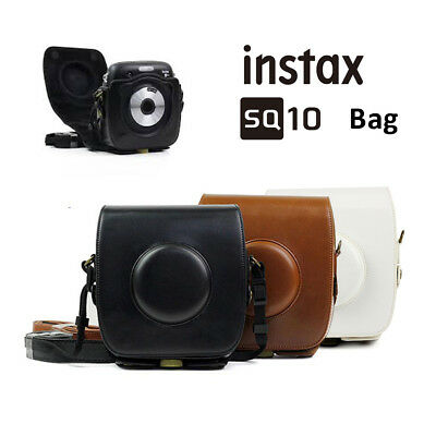 For Fujifilm SQUARE SQ10 Instant Film Camera Carrying Bag Case Cover Black Brown