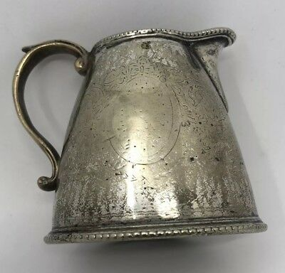 ELKINGTON Jug Milk Cream Silver Plate HOTEL METROPOLE RARE UNUSUAL Unique 1903