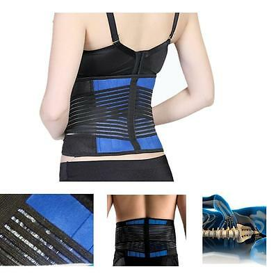 Adjustable Double Pull Lumbar Support Lower Back Belt Brace Pain Relief LH
