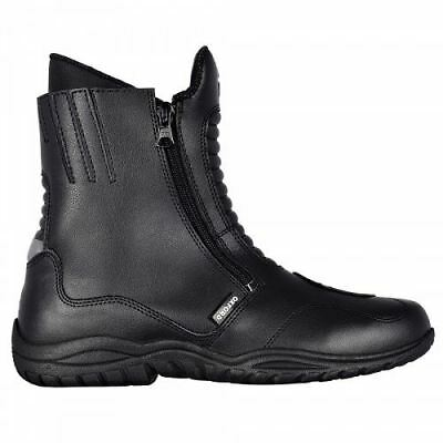 Oxford Warrior Men's Short Leather Touring Cruiser Motorcycle Bike Boots Black