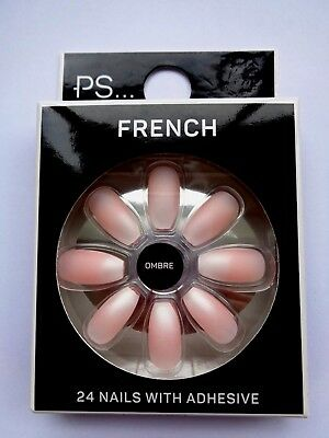 Primark False Nails for Parties - French Ombre  ( 24 Nails with Adhesive )
