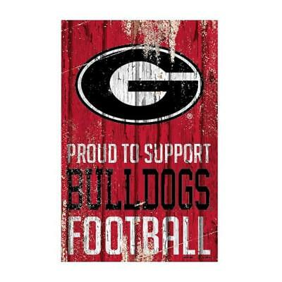 Georgia Bulldogs 11x17 Proud To Support Wood Sign New Ncaa Banner Wall