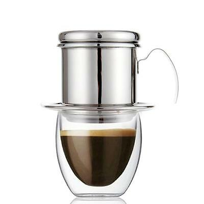 (USA) Stainless Steel Coffee Dripper Cafe Latte Filter Cup Espresso Drip Maker
