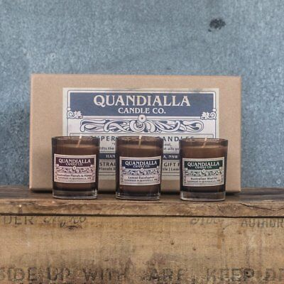 Quandialla Candle Co Superior Soy Candles Australian Collection Gift Pack