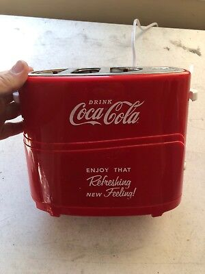 Retro Coca Cola Hot Dog Pop-Up Toaster Red vintage look works