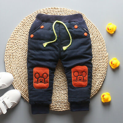 Winter Children Boys Warm Trousers Pants Kids Baby Toddler Boy Thicken Bottoms