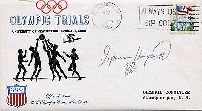 1968 Olympic Games MEXICO CITY NBAer SPENCER HAYWOOD Autographed USOC Cover 1968