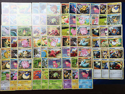 Pokemon 80 Karten aus HeartGold SoulSilver Basis Set Sammlung