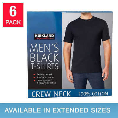 Kirkland Signature Men's Crew Neck Tee, 6-pack **FAST Shipping**