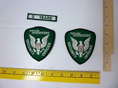 2 Nebraska Furniture Security Officer Patches And 2 Year Patch