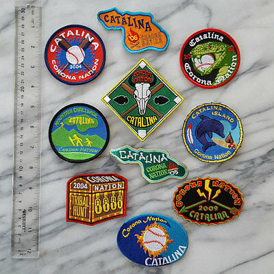Lot of 10 Diff. Catalina Island Embroidered Patches Indian Guides New Old Stock